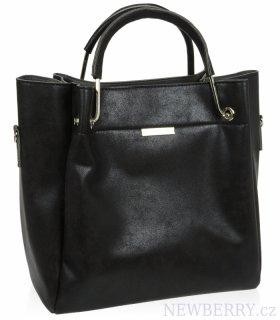 8ec8fa359f Černá matná elegantní dámská kabelka S728 GROSSO   NEWBERRY ...