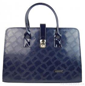 9cacebe4d8 Luxusní dámská aktovka v modrém hadím laku S563 GROSSO   NEWBERRY ...